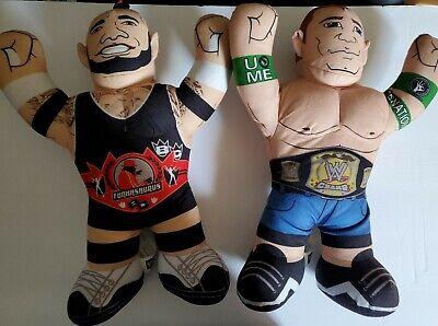 "John Cena & Brodus Clay Funkasaurus 16"" WWE Brawlin Buddies Mattel 2012. (H)"