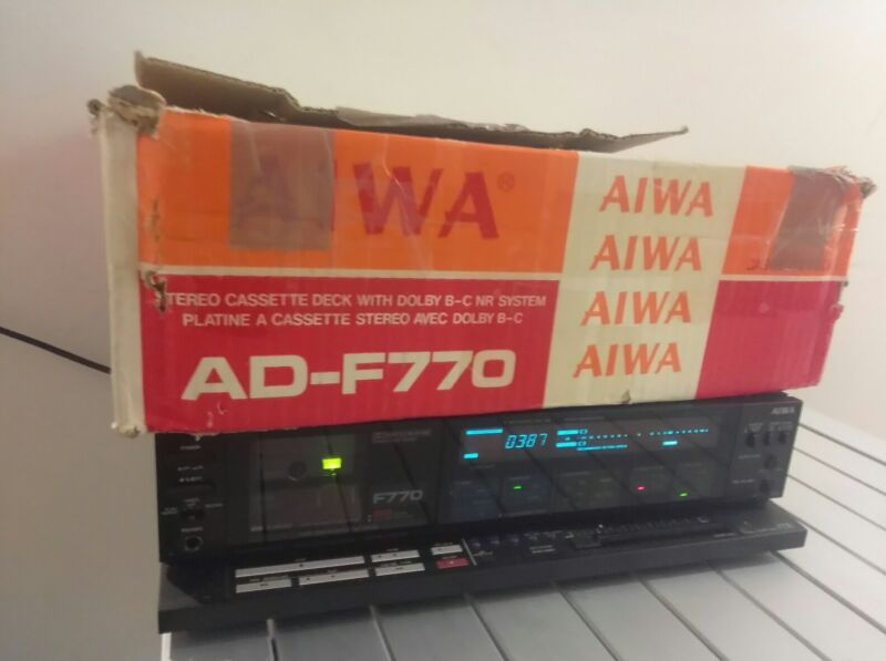 Aiwa F770 3 Head Computerized Cassette Player & Recorder fully functional Hi End