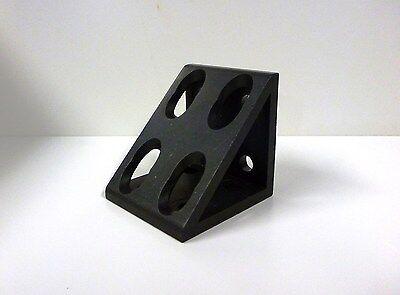 8020 Inc Equivalent Alum 8 Hole Inside Corner Gusset 10 Series Pn 4138-black