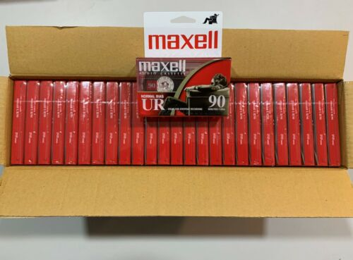 Maxell UR-90 Blank Audio Cassette Tapes (50 Pack) 90 Min Normal Bias - NEW