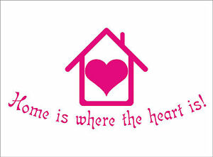 home is where the heart is quote sticker decal vinyl wall art decoration hh3. Black Bedroom Furniture Sets. Home Design Ideas