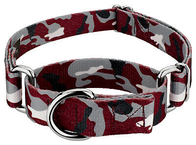 Country Brook Petz® Crimson and White Camo Martingale Dog -