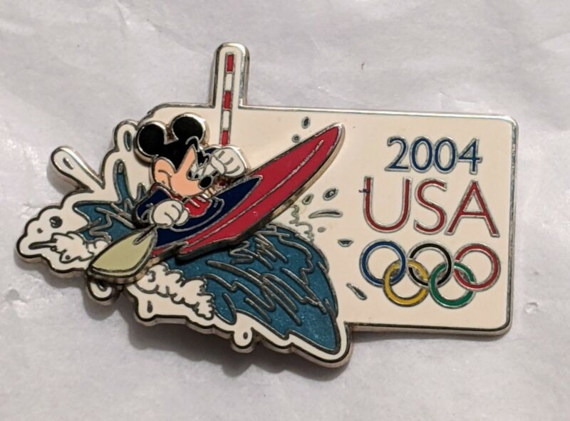 2004 Athens Olympic Games Mickey Mouse Kayak Cast Exclusive 3D Disney Pin LE4000