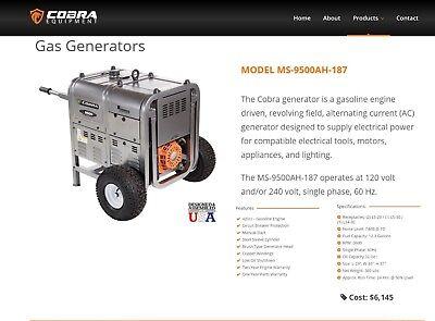 Cobra M-9500 Portable Gas Powered Industrial Generator