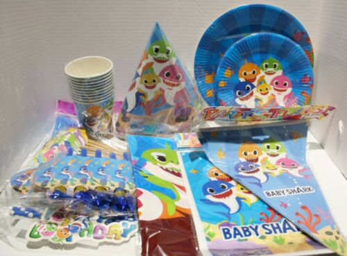 Baby Shark Complete Birthday Party Kit Supplies Decorations - 11pc