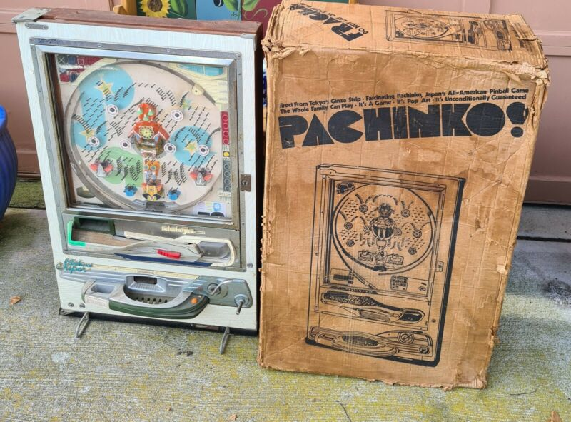 Nishijin  Pachinko Pinball Machine  Not Tested in Original Box