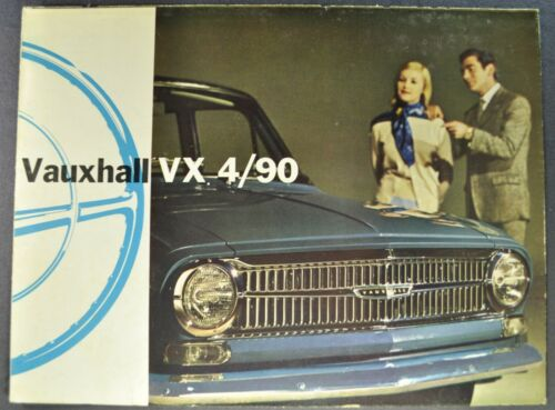 1962-1963 Vauxhall VX 4/90 Sedan Sales Brochure Folder Original