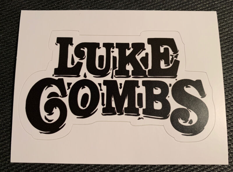 """Luke Combs Decal Sticker 3.8"""" x 2.3"""" Free Shipping - Beer Concert Country Guitar"""