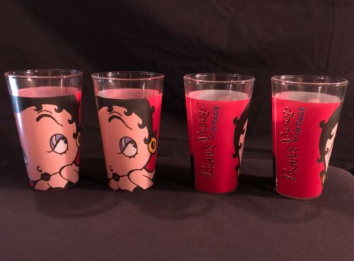 Lot of Betty Boop Vintage Pint Glasses (4 quantity)