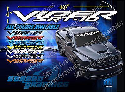 VIPER SRT-10 TRUCK WINDSHIELD VINYL DECAL (Srt 10 Truck)