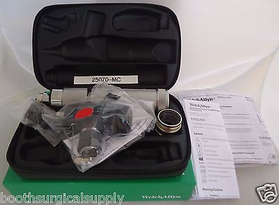 Welch Allyn Otoscope Set 25070-mc With Macroview Otoscope Handle-new In Box