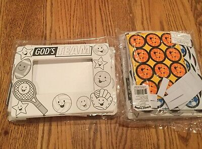 Sports craft frames religious foam peel and stick - 15 new
