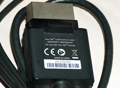 XBOX 360 Video Game Console Composite AV Cable X821376-001 Microsoft Corporation for sale  Shipping to India