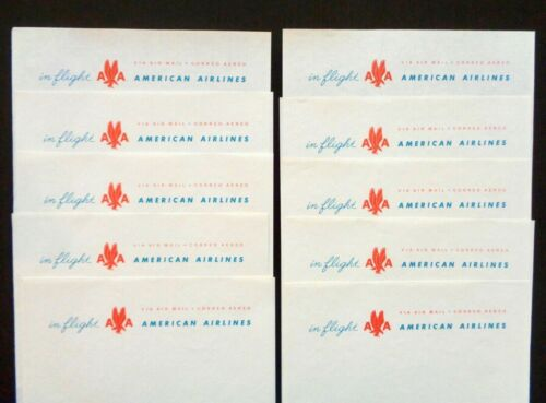 Vintage 1950s AMERICAN AIRLINES In-Flight Stationery 10 Unused Sheets Cool Logo