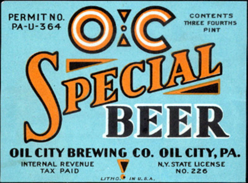 OIL CITY BREWING OC SPECIAL BEER LABEL T SHIRT PA SMALL-XXXLARGE (F)