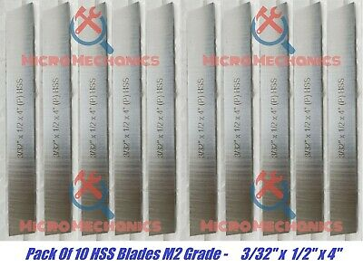 10x Cut Off Blade 332 X 12 X 4 M2 Grade Hss Hardened Ground Parting Tool