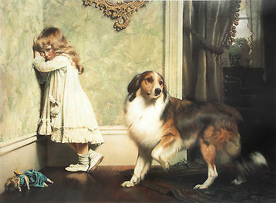"ROUGH COLLIE SHEEPDOG VICTORIAN DOG ART PRINT ""A Special Pleader"" Burton Barber"