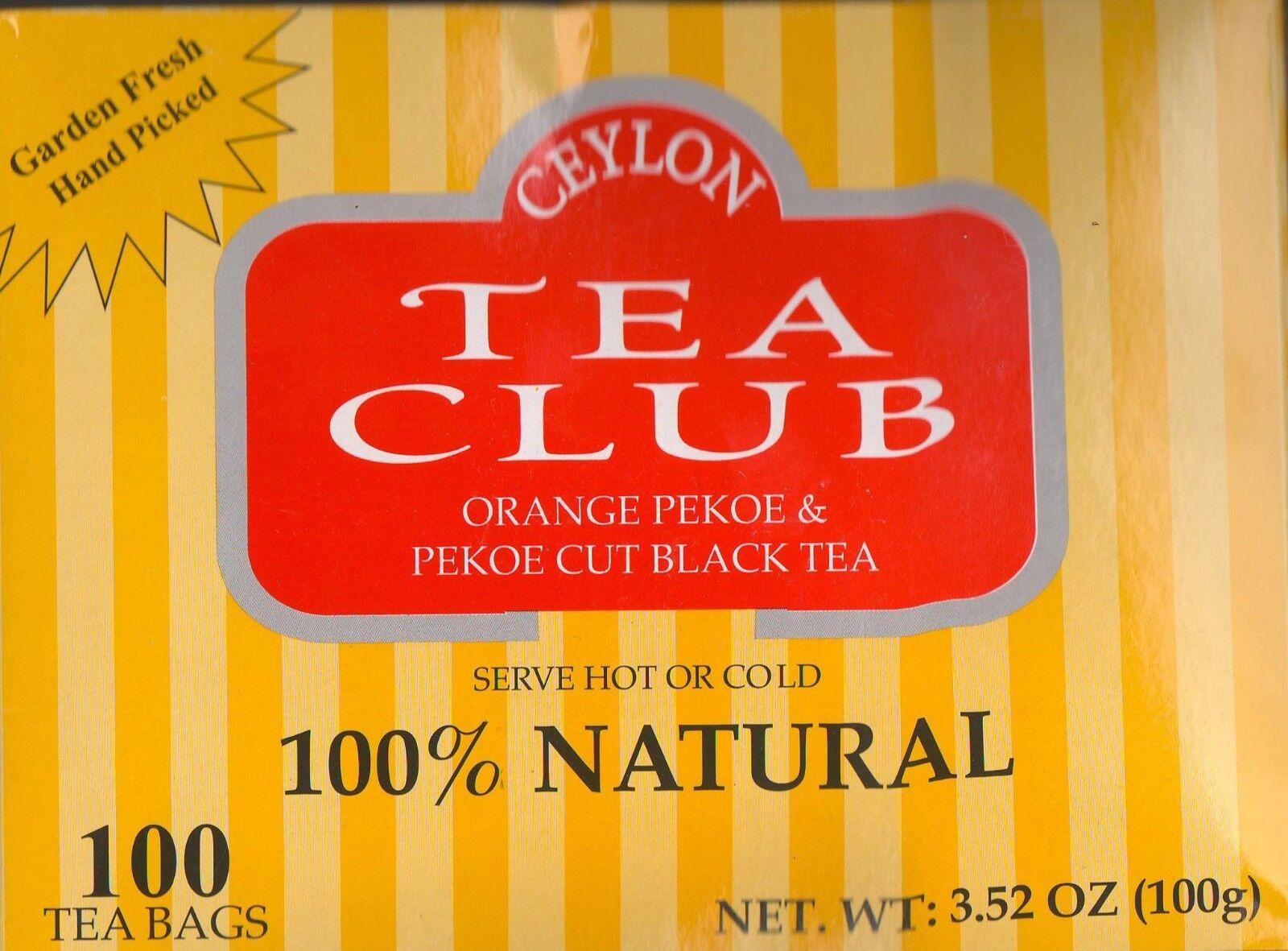 CEYLON Orange Pekoe & Pekoe cut Black TEA  SEALED BOX