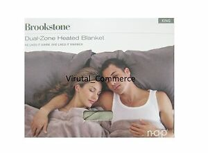 Brookstone NAP Dual Zone HEATED Blanket Soft King Warm Heat Electric 736547