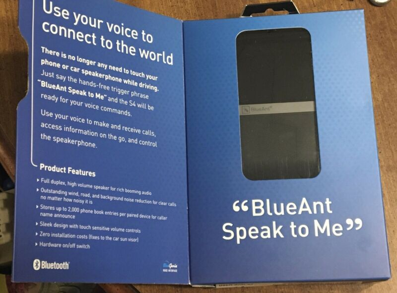 BlueAnt S4 Handsfree Voice Controlled Car Speakerphone w/ A2DP Stereo Streaming