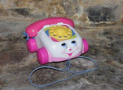 Téléphone jouet Fisher Price rose Mattel année  2000