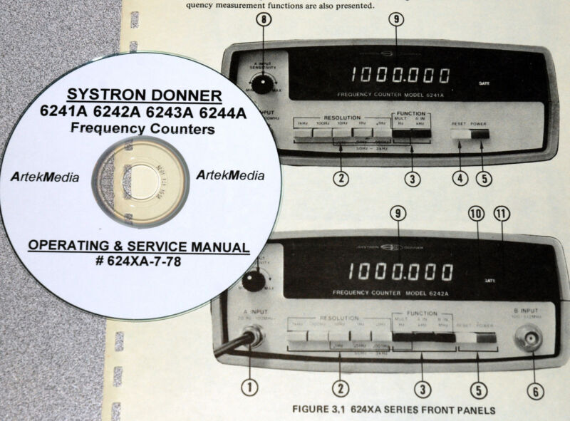 Systron Donner 6241A 6242A 6243A 6244A Operating & Service Manual