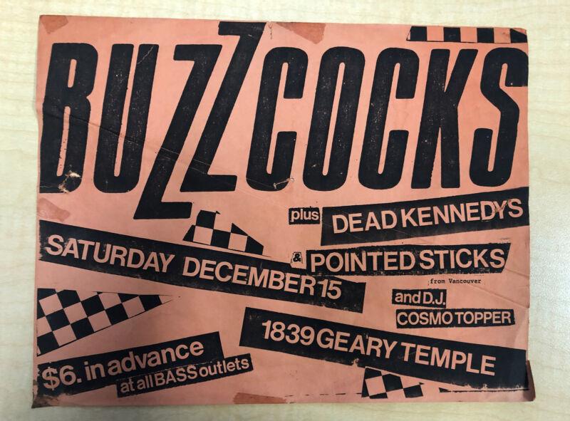 BUZZCOCKS + Dead Kennedys 1979 Geary Temple, S.F. Concert Handbill / Flyer