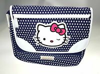 Tracolla Grande Orizzontale Hello Kitty Pois Blue By Cartorama - hello kitty - ebay.it
