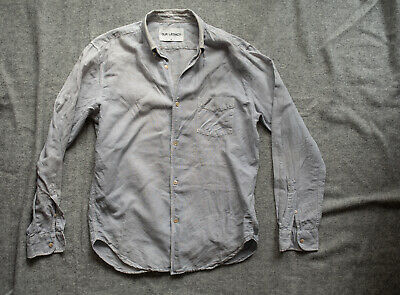 SPRINGTIME LINEN BLEND Our Legacy Pigment Dyed Light Blue Button Down Size 48/M
