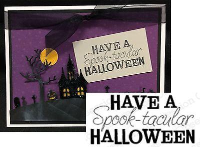 Spooktacular Halloween Words Rubber Stamp C5522 Impression Obsession Stamps  (Spooktacular Halloween Words)