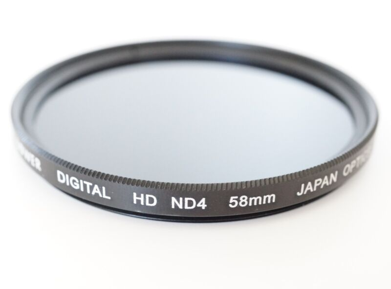 ND4 Neutral Density HD Digital Filter Lens for Canon SL1 T5i t4i t3i camera 58 2