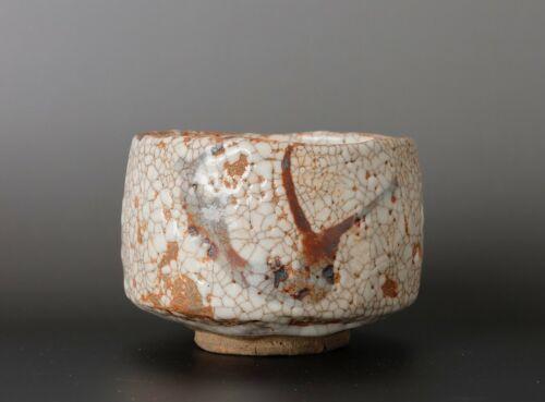 Beautiful  Japanese  Shino  Chawan tea bowl with signed box  KK56