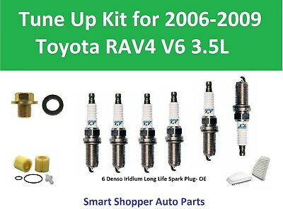 Accordance Up Kit for 2006 2007 2008 2009 Toyo RAV4 Spark Plug, Air Filter, Oil Filter