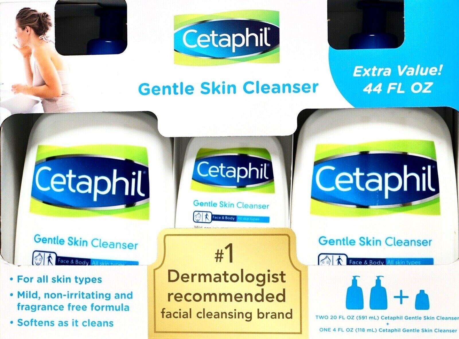 Cetaphil Gentle Skin Facial Cleanser Fragrance-Free Extra Va