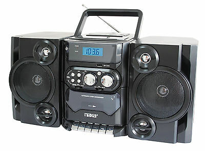 MP3 CD PLAYER NAXA PORTABLE AM/FM STEREO RADIO CASSETTE PLAYER / RECORDER NEW (Mp3-cd-player Portable)