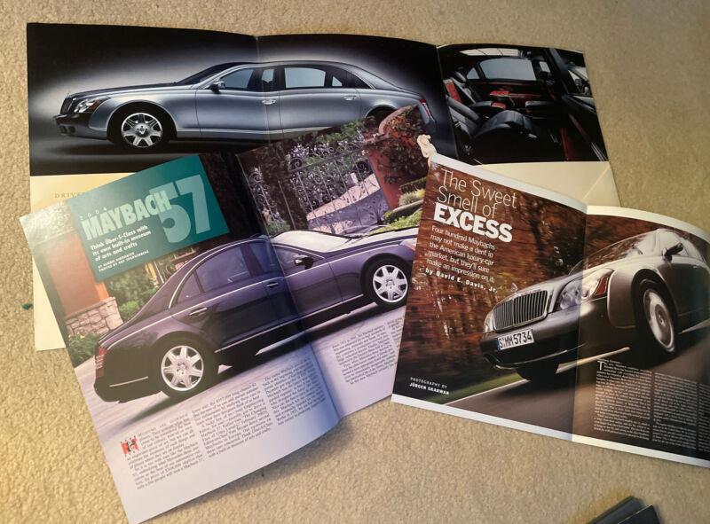 2004 Maybach 57 Official Collectibles Reprints Brochure Catalog Mercedes