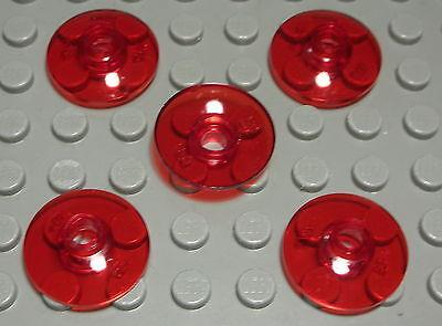 143 Lego Platte 1x1 Transparent Rot 8 Stück