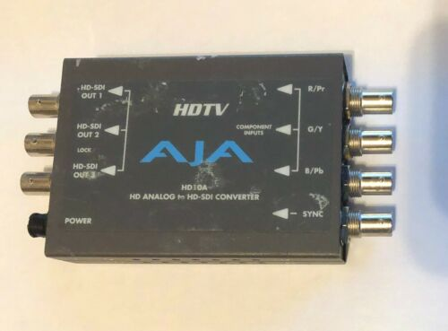 AJA HD10A HDTV HD Analog to HD-SDI 10-Bit Converter (no ps)