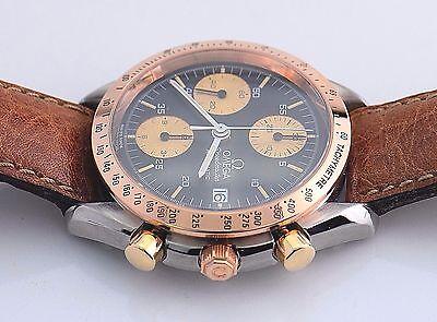 Omega Speedmaster Chronograph.  18k Rose Gold Bezel. 3316.50