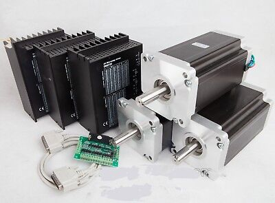Us Free Ship 3axis Nema42 Stepper Motor 4120oz-in 8.0a Driver Cnc Router