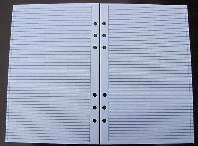 RULED Refill for A5 6-Ring Planner Organizer Insert (fits Filofax) 6-ring-planner Refill