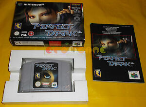 PERFECT-DARK-Nintendo-64-N64-Versione-PAL-Europea-COMPLETO