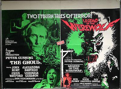 GHOUL / LEGEND OF THE WEREWOLF 1975 Original UK Quad Movie Poster Horror Film