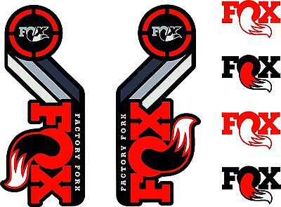 FOX Float X2 Rear Shock Suspension Sticker Factory Decal Kit Adhesive Red