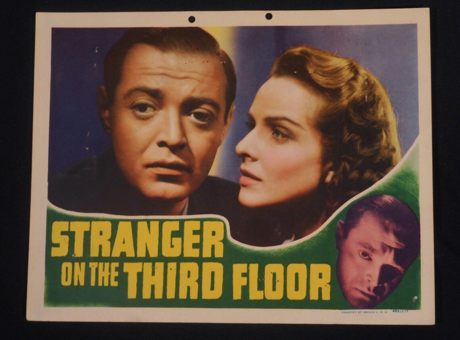 STRANGER ON THE THIRD FLOOR 1940 PETER LORRE RARE FILM-NOIR LOBBY CARD  - $349.95