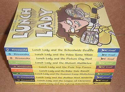 Lot of 10 Lunch Lady Books Vol.1,2,3,4,5,6,7,8,9,10 Jarrett Krosoczka NEW