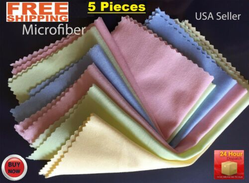 5Pcs Microfiber Cleaner Cleaning Cloth For Phone Screen Camera Lens Eye Glasses