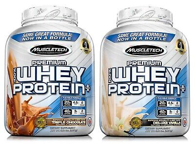 MuscleTech 5 lb Jar 100% Whey Protein Powder Premium Vanilla or - Chocolate Jars