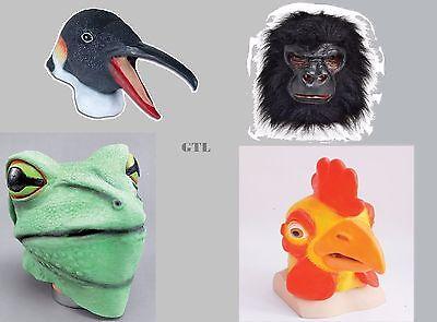 Overhead Gorilla Chicken Frog Rubber Mask Halloween , Cosplay Animal Fancy - Rubber Chicken Mask