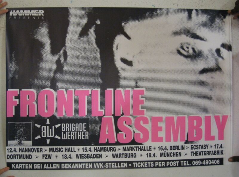 Frontline Assembly Poster German Tour The